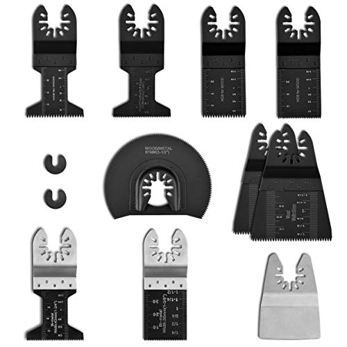 Purchase Powerdelux 12 PCS Oscillating Saw Blades, Metal/Wood Quick Release Saw Blades Oscillating A...