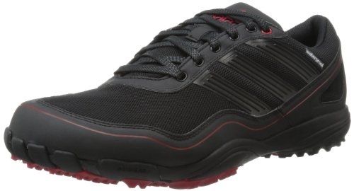 adidas Men's Puremotion Golf Shoe,Black/Black/Red,8.5 M US