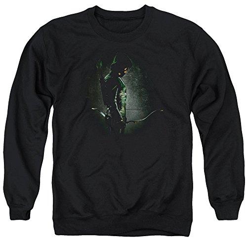 Green Arrow - - Hommes dans l'ombre Pull, Large, Black