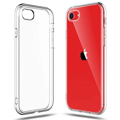 Ultradünne Silikonhülle für iPhone SE2020/7/8, transparent, Durchsichtig, Case, klar