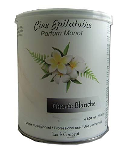 Storepil - Pot cire à épiler jetable NACREE BLANCHE - 800 ml pour épilation