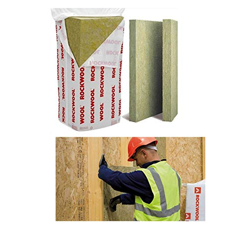 1 x Pack of 12 Rockwool 123318 Flexi Slab 50mm Thick x 600mm Wide x 1200mm Long Sound Acoustic...