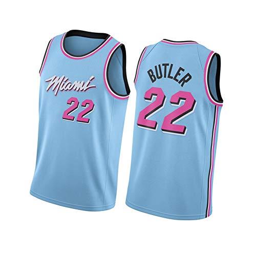 Miami Heat Jimmy-Butler # 22 - Camiseta de baloncesto para hombre, versión urbana de uniforme de baloncesto, talla adulto, apto para fiestas y deportes