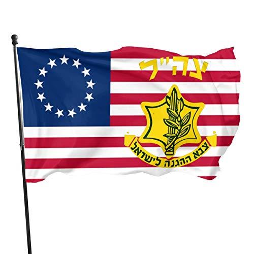 anemone store Bandera de American Fly Breeze de 3 x 5 pies, Escudo de la Defensa de Israel
