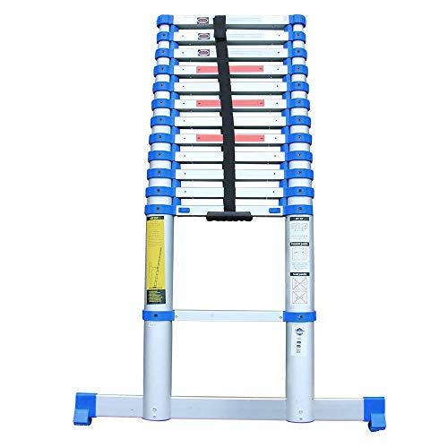Alumexx Quickstep® 3.8 - Telescopische - Ladder - Uittrekbare - Ladder - 13 Sporten - Lichtgewicht - 4.8 m Werkhoogte - 3.8 m Lang