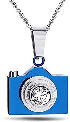 NC190 Halskette Mode Neue Kamera Anhänger Halsketten Schwarz/Silber Blau Farben Feine Mode Schmuck Edelstahl Anhänger Halskette Geschenk für Männer Frauen Mädchen Jungen