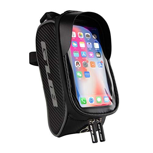 SXZG Bolsa de Marco Frontal para teléfono de Bicicleta Bolsa de Manillar Bolsa de Ciclismo Impermeable para Bicicleta Accesorios de Soporte móvil para Todos los teléfonos móviles Android/iPhone
