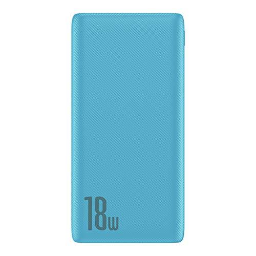 Cargo rápido 3.0 10000mAh Power Bank USB Tipo C PD 10000 PowerBank Cargador de batería Externo portátil para Xiaomi iPhone Huawei,Azul