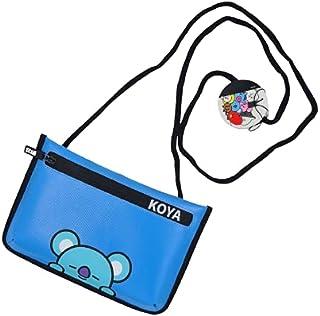 K-pop - BTS Official Merchandise by Line Friends Cute Cross body Messenger Bag Purse, Shoulder Bag for Women