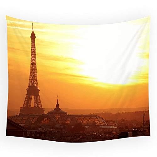 WERT París Torre Eiffel ARC De Triomphe patrón Tapiz decoración Fondo Tela habitación Paisaje Arquitectura Pared Manta A4 150x200cm