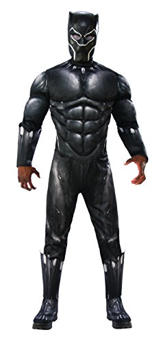 Rubie's Men's Marvel Black Panther Deluxe Costume, As Shown, Extra-Large