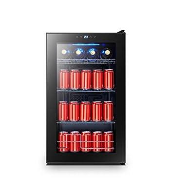 FRIGIDAIRE EFMIS2438 Freestanding Beverage Center Fridge-Fits 101 Cans or 24 Bottles, Black