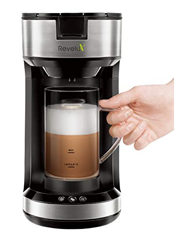 Check Out This Single Serve Coffee Maker with Milk Frother, Brew and Froth Coffee Maker for Latte, C...