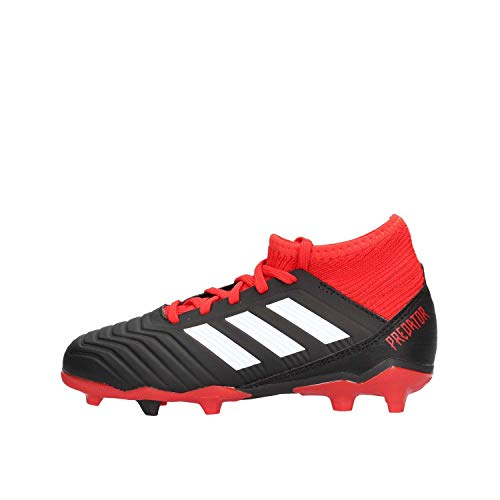 adidas Unisex-Kinder Predator 18.3 FG Fußballschuhe, Schwarz (Negbás/Ftwbla/Rojo 001), 34 EU
