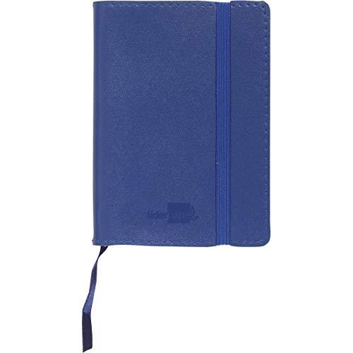 Notizbuch LIDERPAPEL Lederoptik A7120Blatt 70g/m2Wandbild 4mm ohne Rand blau