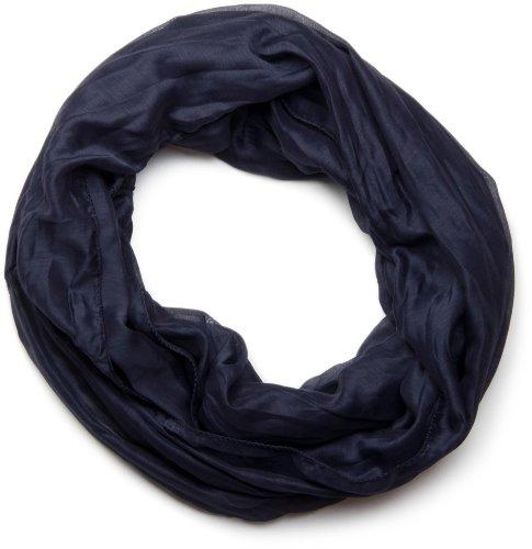styleBREAKER leichter unifarbener Loop Schlauchschal, seidig/Unisex 01016076, Midnight-Blue