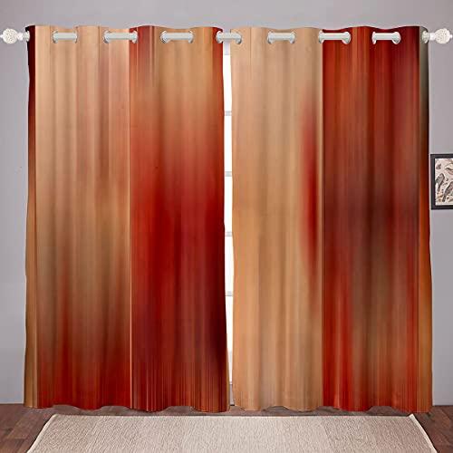 Cortinas de rayas para niñas, niños, líneas verticales, cortinas decorativas para ventana, para dormitorio, sala de estar, decoración moderna de azulejos ilustración de ventanas, W66 x L72