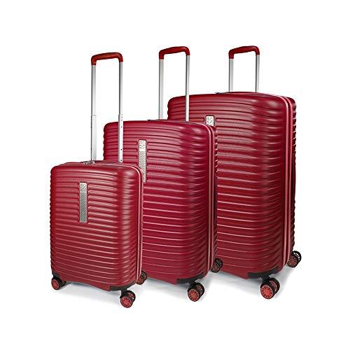 Roncato Set 3 Trolley G+m+c 4 W Vega Valigia, 78 cm, 123 liters, Rosso (Rojo)
