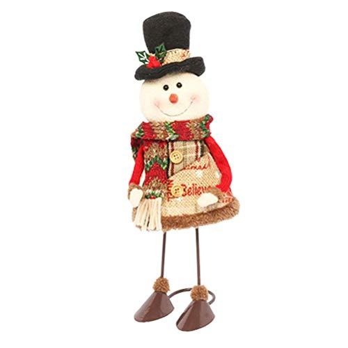 XINRUIBO Natale farcito Animali Decorazioni Tavolo del Pupazzo di Neve di Natale Bambola Pupazzo Natale