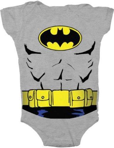TV Store bébés garçons Batman Costume uniforme anthracite gris Snapsuit bébé Baby Onesie Romper (12 mois)