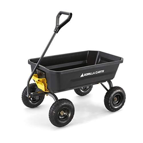 ゴリラカート ガーデンダンプカート(台車) ブラック