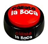 Callate La Boca Button - Funny Shut Your Mouth and Be Quiet Toy for Comic Relief - Easy Push Spanish Shut Up Button - Talkie Toys Product
