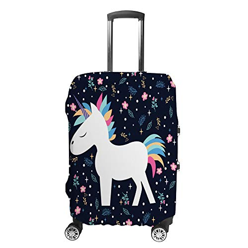 Luggage Cover Travel Anti-Scratch Suitcase Cover Baggage Protector Case Beautiful Cartoon Unicorn Fit Washable Accessories Dustproof XL