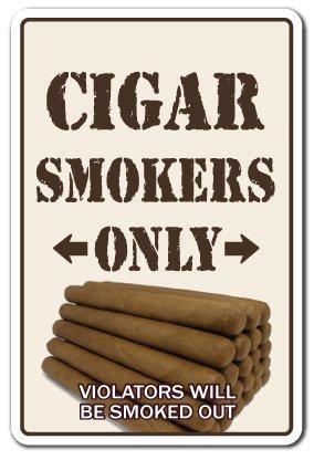 Cigar Smokers ONLY Sign Room Shop humidor Cuban Cutter Lighter bar Smoke Lover | Indoor/Outdoor | 14' Tall