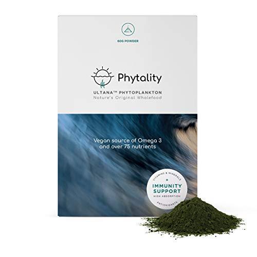 Phytality Ultana Phytoplankton 60 Grams   Vegan Omega 3 EPA   Sustainable & Plant-Based   100% Vegan