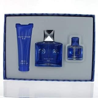 Marc Ecko Blue by Marc Ecko for Men 4 Piece Set Includes: 3.4 oz Eau de Toilette Spray + 3.0 oz Hair & Body Wash + 0.5 oz Eau de Toilette Spray