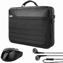 "Generic VanGoddy Trovo Heavy Duty Nylon Universal Crossbody Briefcase for Asus E/X/K501/N55/ROG GL551 GL552/Transformer Book Flip/ZenBook Series 13.3"" to 15.6"" + Wireless Mouse + Earphone"