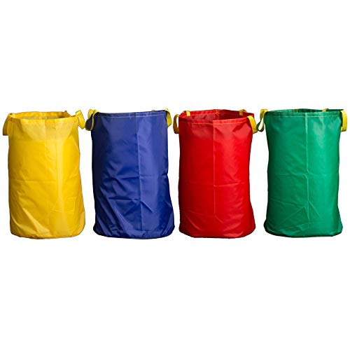 Potato Sack Race Bags 28x40'', Colorful Jumping Pocket Parent-Child Adult Children Sense Sports Game Equipment Party Accessory(Set of 4)