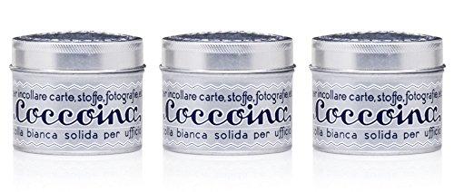 Aktion Coccoina Klebedose Sparpack mit 3 Stück, Coccoina Bastelkleber, Kultkleber seit 1927, Blechdose mit Pinsel, lösungsmittelfrei, je 125 g