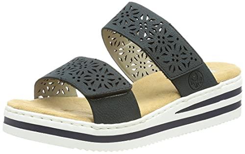 Rieker Damen V02K7 Sandale, Blau, 37 EU