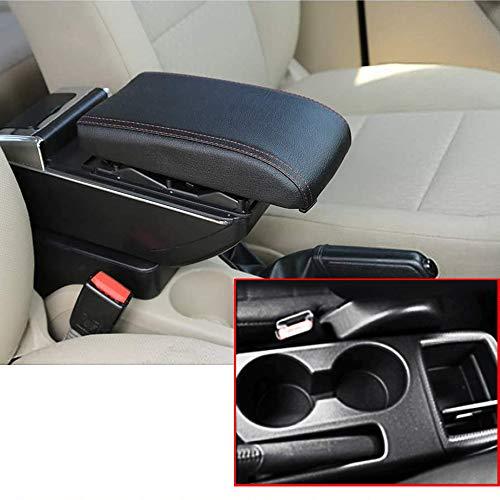 Auto Armlehne Für M azda CX-3 CX 3 CX3 2014-2019 Mittelarmlehne Mit Staufach Aschenbecher Eingebautes LED-Licht Mittelkonsole Zubehör Schwarz