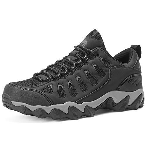 CAMEL CROWN Zapatos de senderismo de los hombres de alta tracción bajo-top zapatos de caminar transpirable zapatillas para senderismo al aire libre viajes