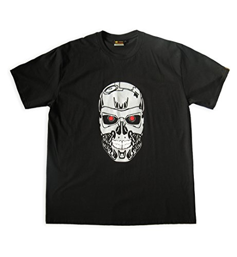 T-800 Cyborg Face Fan Art T-shirt, Small Adult Only