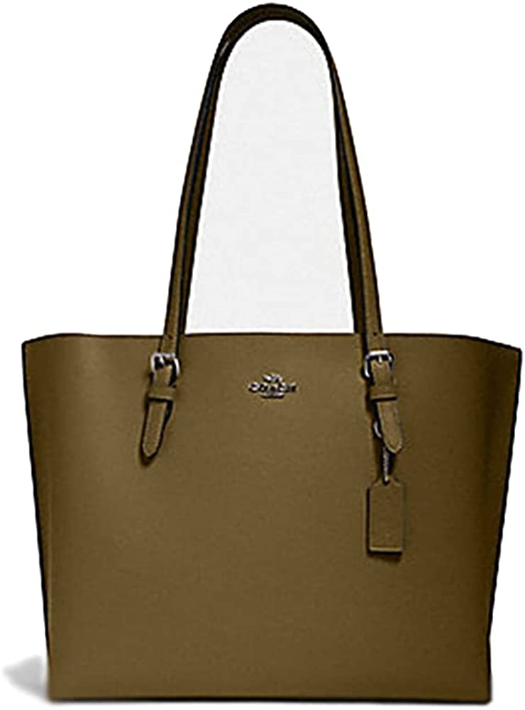 COACH Womens Mollie Tote In Pebble Leather 1671 Kelp