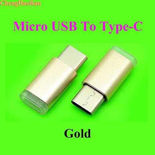 Gimax 500pcs Micro USB OTG Adaptador Tipo C Macho a Micro USB Convertidor Mini Conector de Datos Cable de Carga Rápida Tipo-C para mi5 honor 8