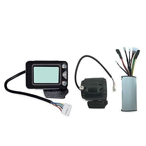 GENFALIN Controlador de Frenos Pantalla LCD 24V 250W Fibra de Carbono Controlador del Scooter eléctrico sin escobillas del Motor eléctrico de Accesorios de Bicicletas Partes de la Bicicleta
