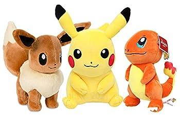 Pịkáchụ Plush Toy 9  Charmander Plush Toy 8  Eevee Plush Toy 7  - Combo  3  Plush Toy Pịkáchụ Plushie Charmander Stuffed Animal Eevee Plushie