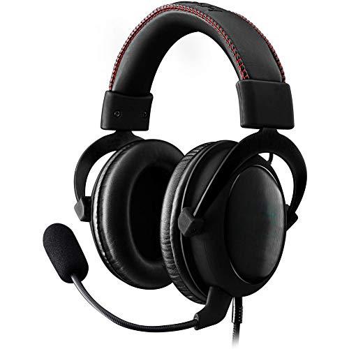 Headset Gaming Headset, Microphone unidirectionnel et rétractable, Cache-Oreilles Doux pour mémoire pour Utilisation avec Les Ordinateurs Pc, Ps4 et Xbox One