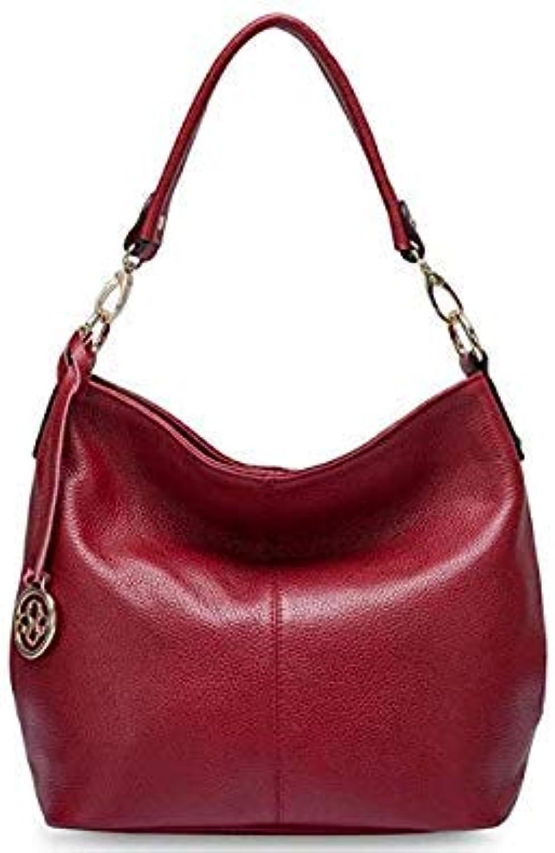 Charm Purple Women Shoulder Bag 100 Real Cow Leather hobos Fashion Lady Messenger Crossbody Purse Elegant Female Handbag Burgundy