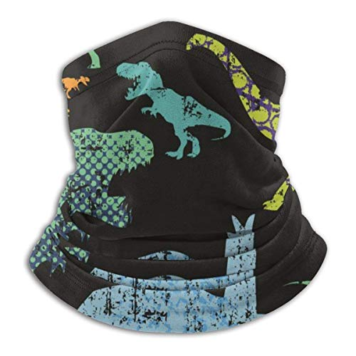 Neck Warmer T-rex Dinosaurs Neck Warmer Windproof Balaclava Fleece Hood Free UV Winter Hats