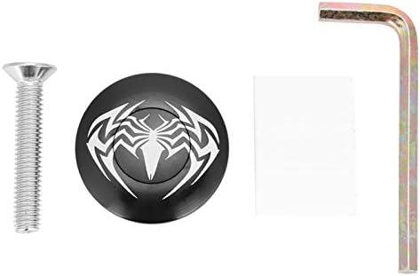 Duurzaam Gekwalificeerd Aluminium Roestvrij Waterdichte Fiets Headset Fiets Stuurpen Headset Top Cap Cover voor MountainbikeSpider black