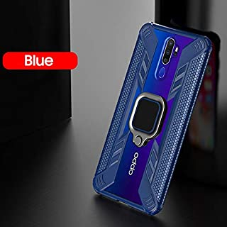 Fitted Cases - Shockproof Case for Oppo A9 2020 Case for Oppo Reno F11 Pro A9 2020 Car Holder Ring Back Cover Clear Protec...