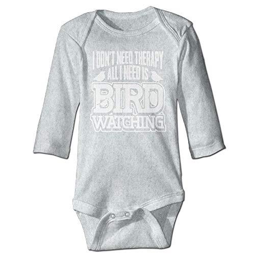 Body de manga larga para bebé, unisex, para recién nacido, amantes de pájaros, observación de pájaros, para niños, de manga larga, traje de sol, color ceniza