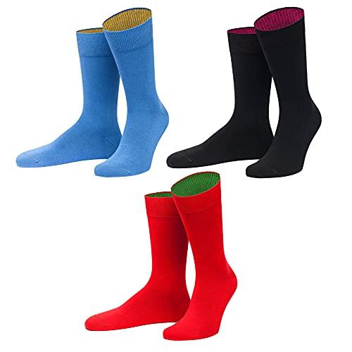 von Jungfeld Socken Strümpfe Bio Baumwolle GOTS viele Farben 3er Pack 39-42