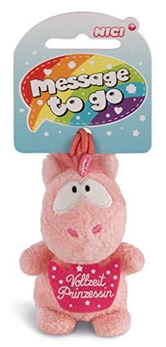 NICI 42733 Anhänger Einhorn Merry Heart Vollzeit Prinzessin, 8 cm, rosa