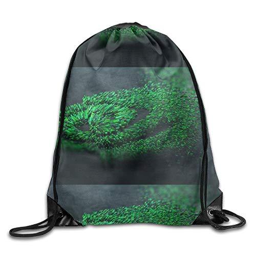 YOWAKi Nvidia Green Logo Unisex Outdoor Rucksack Shoulder Bag Travel Drawstring Backpack Bag